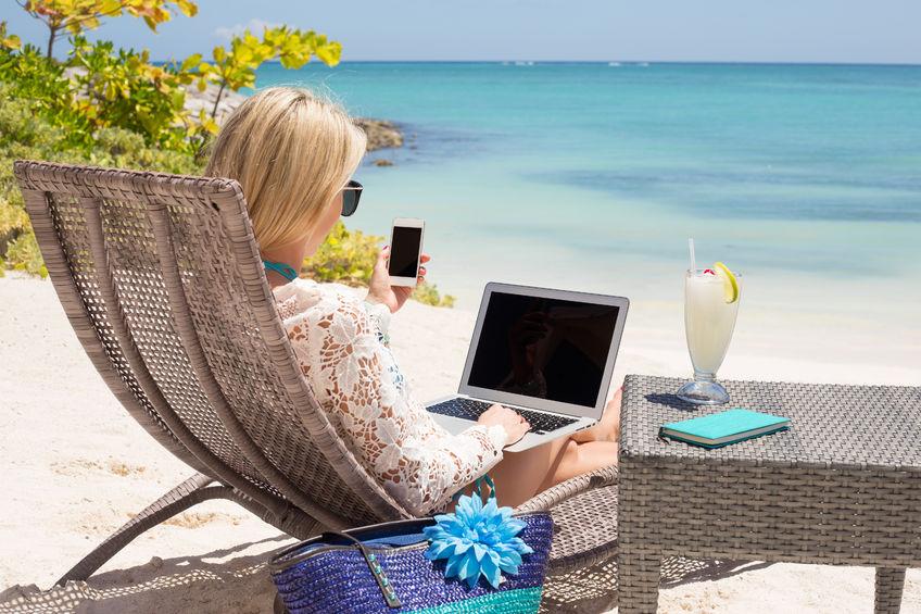 Afstand van werk nemen in de vakantie